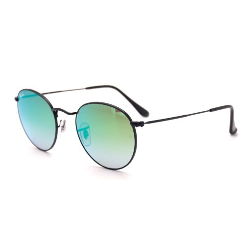 Ray-Ban Round Flash Lenses Gradient Sunglasses RB3447-002/4J-50