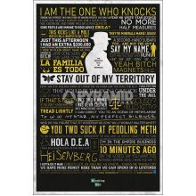 91.5 x 61cm Breaking Bad Typographic Maxi Poster - Many Sayings Walter White -  breaking bad poster many sayings walter white 61x915cm new official