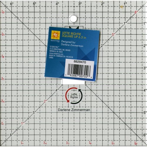 """EZ Quilting Square Up Left- & Right-Hand -6.5"""" Clear"""