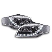DRL Daylight headlight  Audi A4 type 8E Year 04-08 chrome