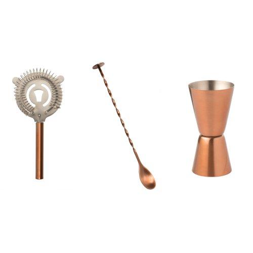 Epicurean 3 Piece Classic Cocktail Kit, Copper
