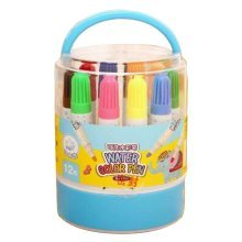 [A] 12 Colors Watercolor Drawing Pens Colored Marker Pens Set for Children