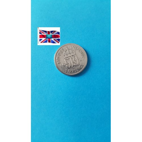 Great Britain 6 Pence - George VI 1st coinage