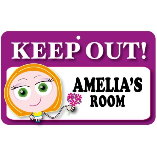 Keep Out Door Sign - Amelia's Room