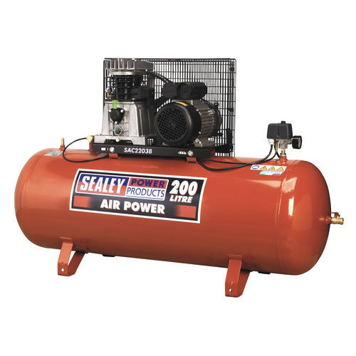 Sealey SAC2203B 200ltr Belt Drive Compressor 3hp with Cast Cylinders