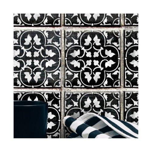 ZAMORA Tile Furniture Wall Floor Stencil for Painting