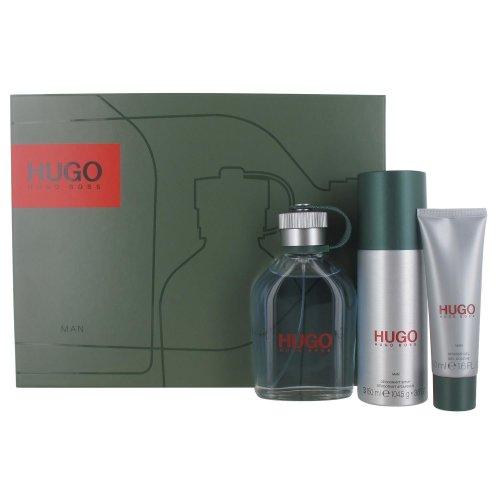 Hugo Boss Hugo Man 125ml Eau de Toilette Spray, 50ml Shower Gel and 150ml Deodorant Spray Gift Set for Men