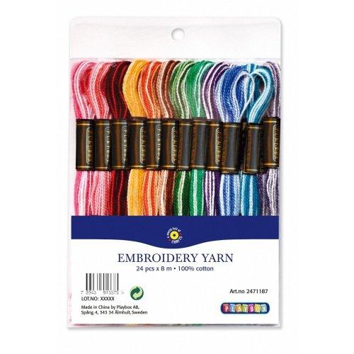 Pbx2471187 - Playbox - Melange Embroidery Y Arn, Mixed Colours, 24 X 8 Mtr