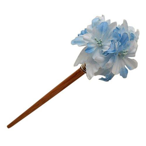 Janpanese Floral Stype Stick Hairpin Hair Ornaments Hair Clip Headwear Blue