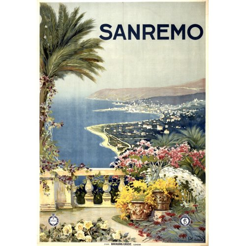 Advertising poster - Sanremo - High definition printing on stainless steel plate