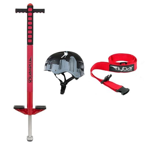 Red Maverick Pogo with Flyscraper Helmet, S/M