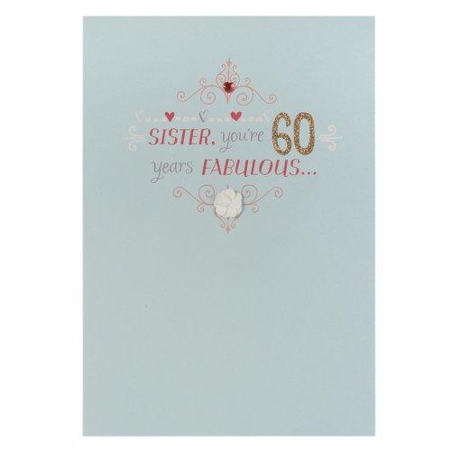 Hallmark 60th Birthday Card For Sister Fabulous Years