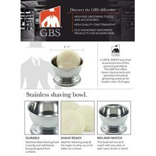 Stainless Shaving Soap Bowl - Fits up to 3 oz