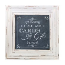 Cards Framed Square Sign Black
