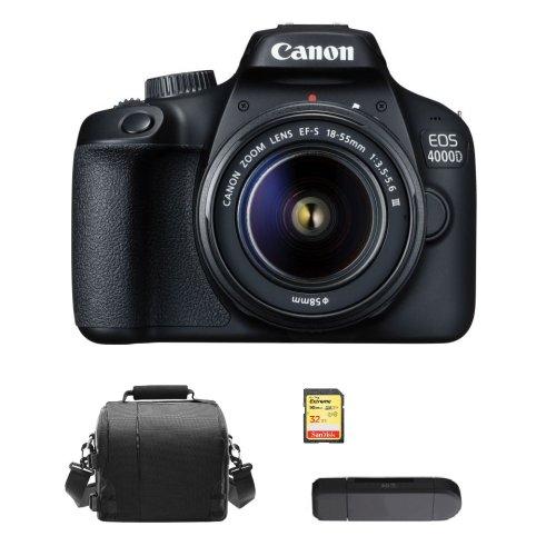 CANON 4000D KIT EF-S 18-55MM F3.5-5.6 III+32GB SD card+Bag+Card Reader