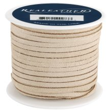 "Realeather Crafts Suede Lace .125""X25yd Spool-Beige"