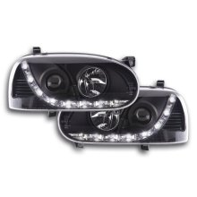 Daylight headlight  VW Golf 3 type 1HXO 1EXO Year 91-97 black