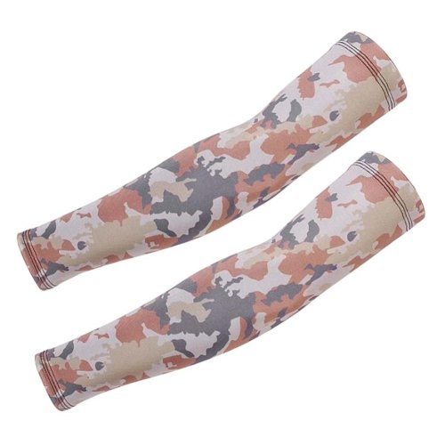 Camouflage Ice Silk Sun Protection Sleeves,Riding,Fishing,Arm Guard,A05