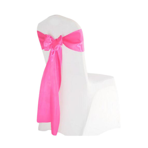 10PCS Wedding Anniversary Ribbon Elegant Chair Cover Bands Decor-Rose Red