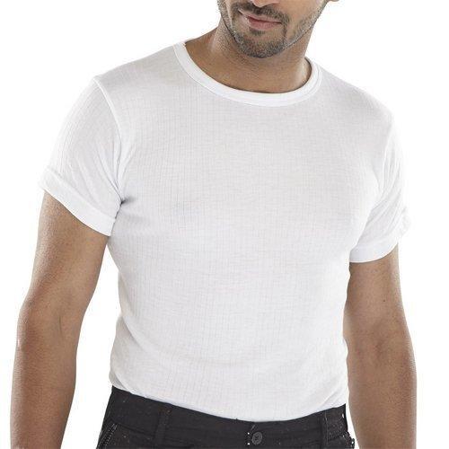 Click THVSSWL Thermal Vest Short Sleeve White Large