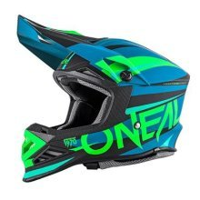 0614-602 - Oneal 8 Series Aggressor Motocross Helmet S Blue Neon Green