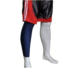"""[NAVY] 17.7"""" Long Compression Basketball Leg Sleeve One Pic, Size Middle"""