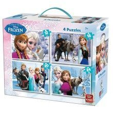 King Disney Frozen 4-in-1 Jigsaw Puzzle (12 - 24 Pieces)