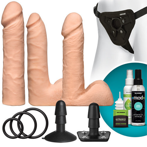 Vac-U-Lock - Dual Density UltraSKYN Set  Toys for ladies Strap on - Vac-U-Lock