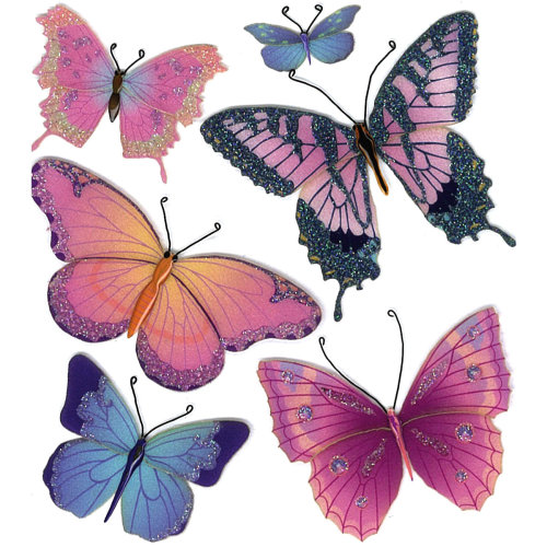Jolee's Boutique Dimensional Stickers-Butterflies