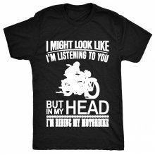 8TN Funny Motorbike Parody - Not Listening to you Womens T Shirt