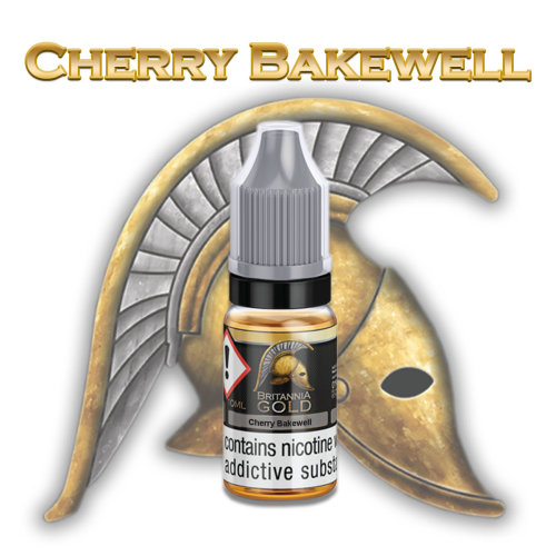 Britannia Gold Cherry Bakewell Vape E-liquid 10ml Nicotine Strength 6mg