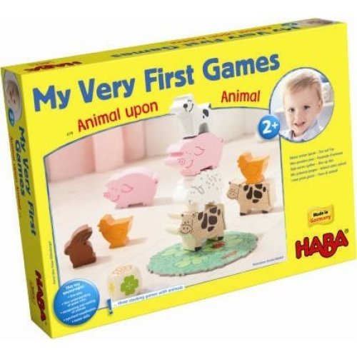 HABA My Very First Games - Animal Upon Animal Wood Stacking Game (Made in Germany)
