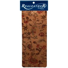 "Realeather Crafts Goat Leather Trim Piece 9""X3""-Marigold Natural"
