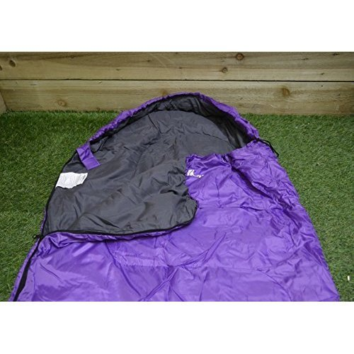 Summit Mummy Therma Sleeping Bag 250gsm - Purple Camping Adult - Festival -  summit mummy therma sleeping bag 250gsm camping purple adult festival