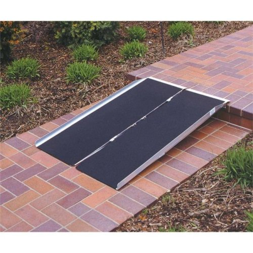 Prairie View Industries 3-ft x 30-in Portable Singlefold Wheelchair Ramp 800 lb. Weight Capacity  Maximum 6-in Rise