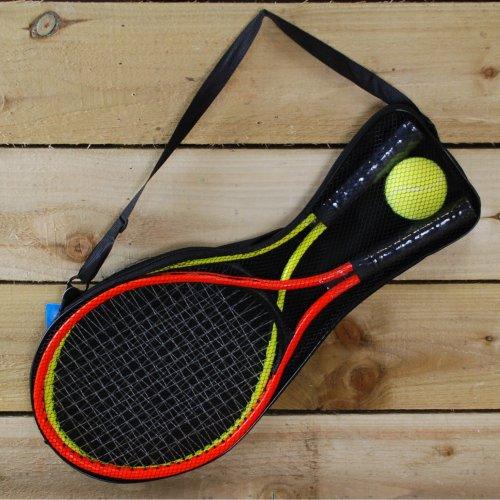 3pc Tennis Set - Outdoor Garden 2 Player 2 Rackets and Ball