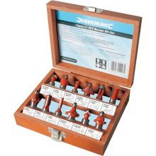 "Silverline 1/2"" Tct Router Bit Set 12pce 1/2"""