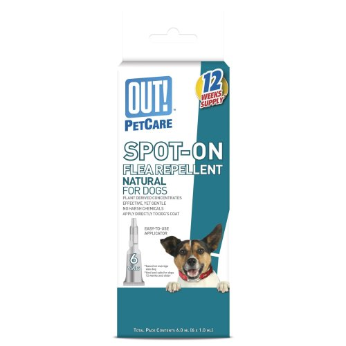 OUT! Spot-on Natural Flea Repellent for Dogs