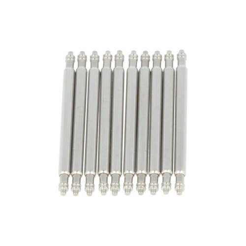 PUREgrey 10 x Spring Bars 20mm x 1.78 Diameter Stainless Steel