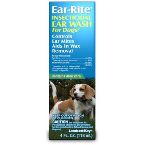 Pet Fulfillment 006TRP-1067 Ear-Rite Insecticidal Ear Wash  4oz