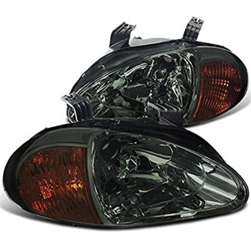 1993 - 1997 Honda Del Sol Headlights - Smoke