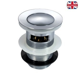 Chrome Basin Clicker Waste Pop Up Plug Slotted