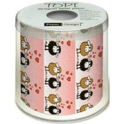 Topi Novelty Sheep In Love Toilet Roll