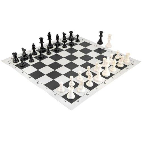 School Tournament Chess Set Black