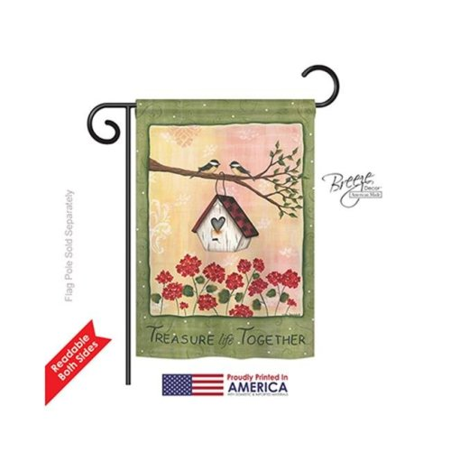 Breeze Decor 50045 Welcome Treasure Life Together 2-Sided Impression Garden Flag - 13 x 18.5 in.