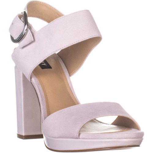 DKNY Bell Sling Back Block Heel Sandals, Linen , 7.5 UK