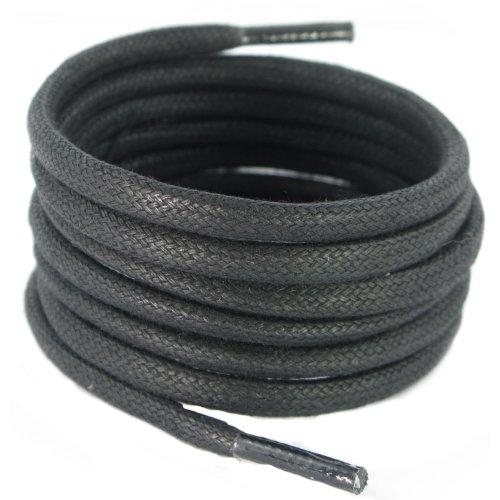 140 cm 5 mm round waxed Cotton Black