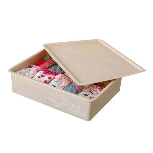 Khaki Underwear/Socks Storage Organizer Home Drawer Divider