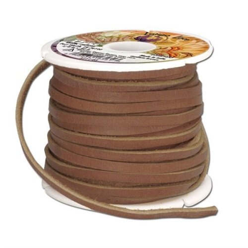 Latigo Lace Big 50' 1/8in -  latigo lace brown tandy leather factory 18inch wide 50feet spool medium 125x50 spoolmedium
