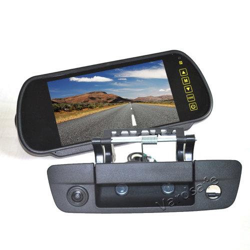 Vardsafe Rear View Backup Camera + 7 Inch Clip-on Mirror Monitor for Dodge Ram Pickup Truck 1500 2500 3500 (2009-2018)